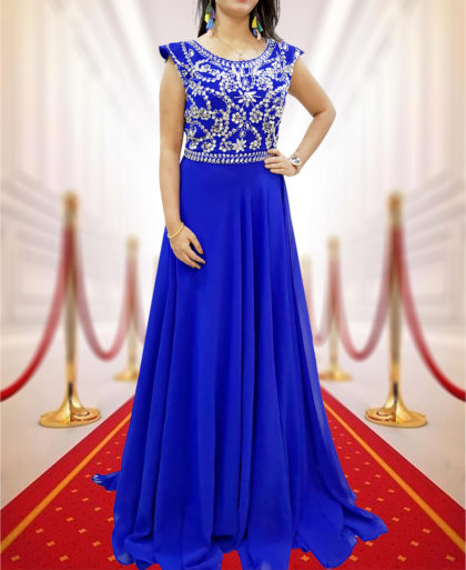 Long Prom Dresses Cap Sleeves Bridesmaid Wedding Guest Gowns Beaded