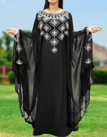 Long Sleeve Plus Size Beaded Moroccan kaftans african dresses for women