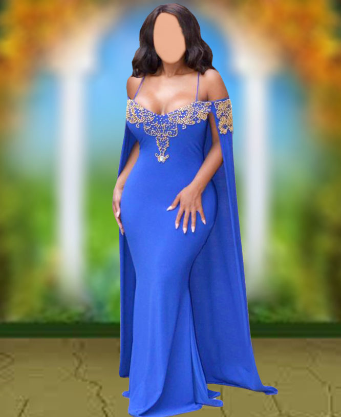 Off shoulder bodysuit Sleeveless Dress For Womens Party Wear Plus Size Cape Dress