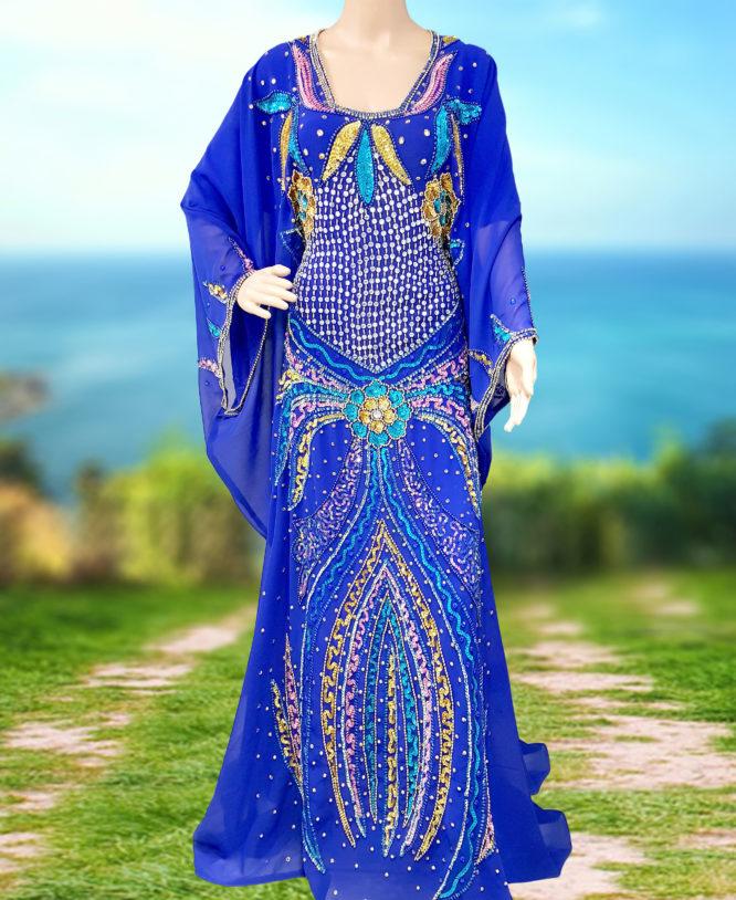 Dubai Modest Kaftan Long Gowns Formal Abaya Arabian Plus Size Bridesmaid Caftan