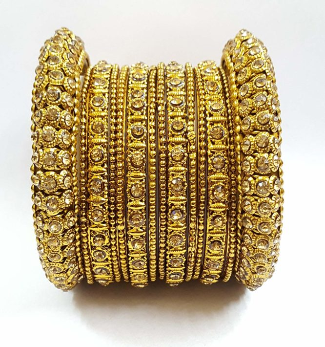 Fashion Jewellery Traditional Gold Plated Bracelet Bangles Set for Girls and Women