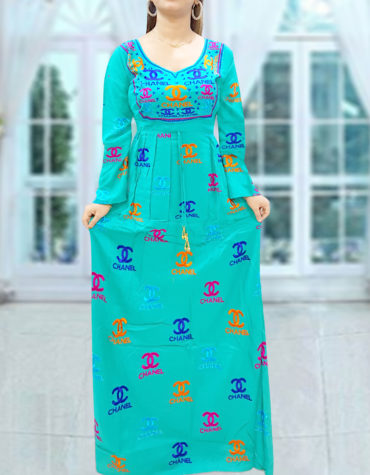 Exclusive Indian Silk Embroidery Women Maxi Casual Long Stitched Rayon Gown