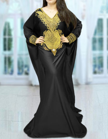 Robe Dubai Fancy Black Abaya Plus Size Moroccan Kaftan African Dresses for Women
