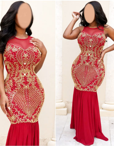 Elegant African Upper Net Morrocan Beaded Party Wear Kaftan Dresses For Women