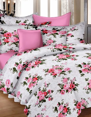 African Style Cotton Comfort Cotton King Size Bed-sheet with 2 Pillow Covers