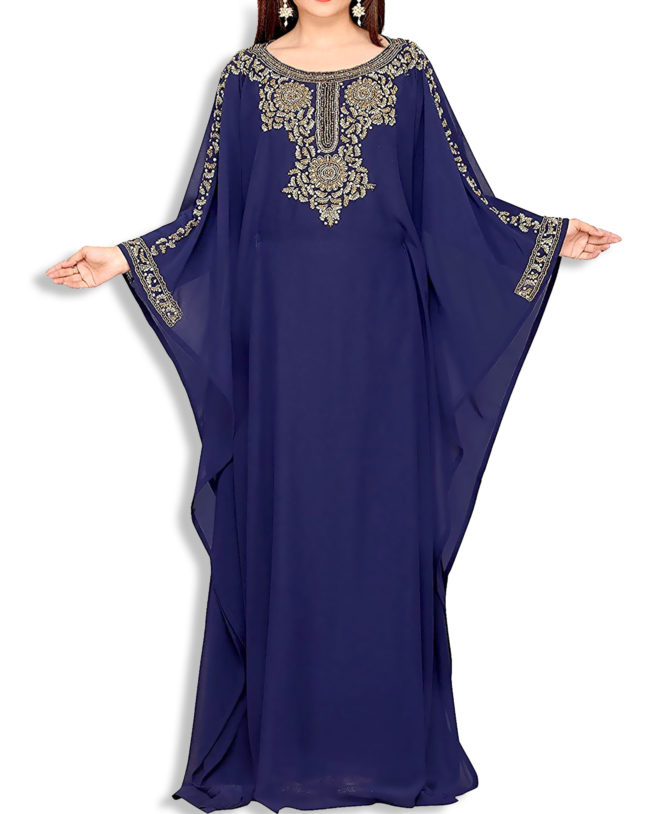 Farasha Jalabiya Long Women Chiffon Abaya Dubai Kaftan